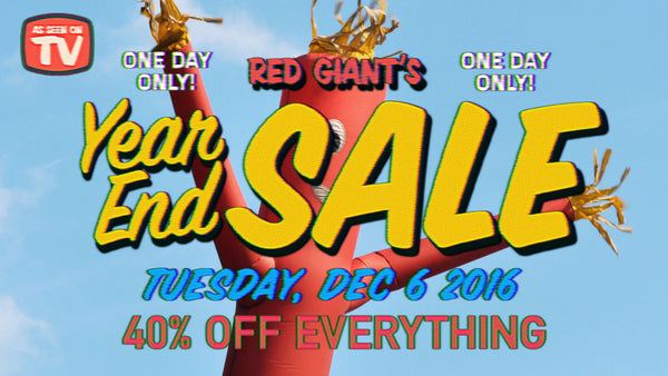 40% OFF Sale on Red Giant Software - Including Shooter Suite, Magic Bullet Suite, Effects Suite, and Keying Suite