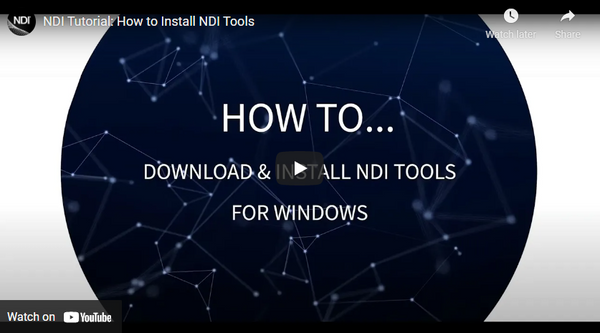 How to Install your FREE NDI Tools!