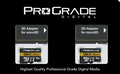 ProGrade Digital 128GB MicroSDXC UHS-II Memory Card w/adapter - 60, 2-Pack
