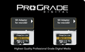 ProGrade Digital 256GB MicroSDXC UHS-II Memory Card w/adapter - 60, 2-Pack