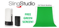 SlingStudio Hub plus Camera link and Battery with FREE Green Screen.
