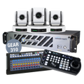 Bundle Wirecast Gear 310 with 3 BirdDog White P100 Cameras