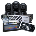 Bundle Wirecast Gear 320 with 3 BirdDog Black P200 Cameras