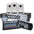 Wirecast Gear 420 with 3 BirdDog White P200 Cameras