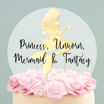 Princess, Unicorn, Mermaid & Fantasy Cake Toppers