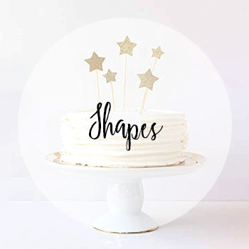 Shape Cake Toppers