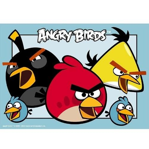 Angry Birds Edible Cake Image - A4 Size