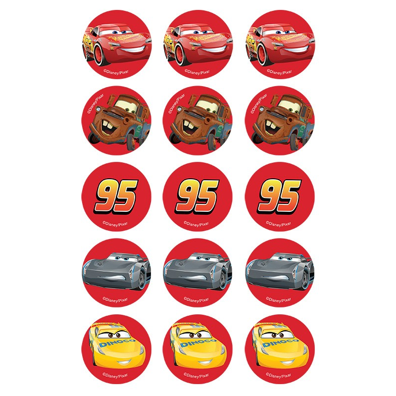 Disney Cars 3 Edible Cupcake Images
