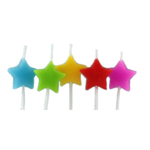 Mini Star Candles - Rainbow