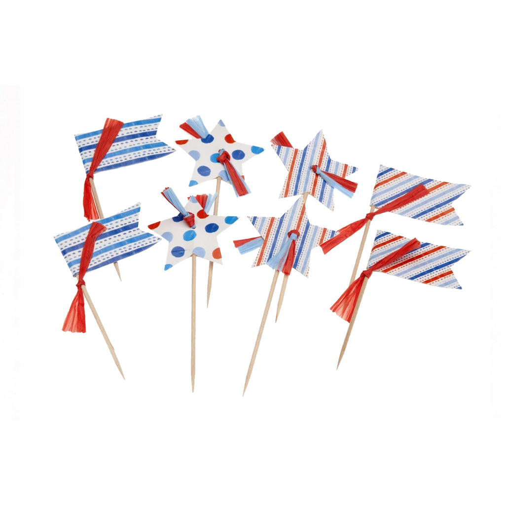 Stars and Flags Cupcake Toppers
