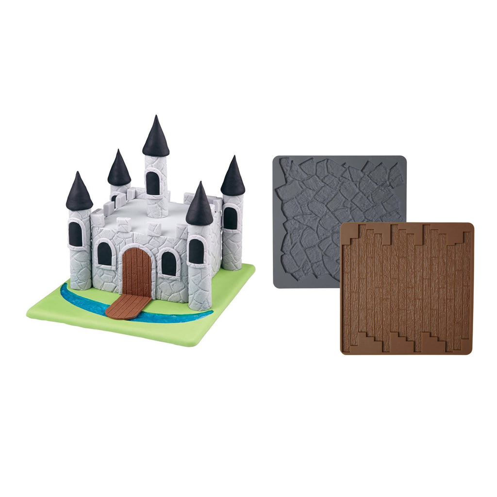 Wilton Texture Mat Set - Stone and Wood