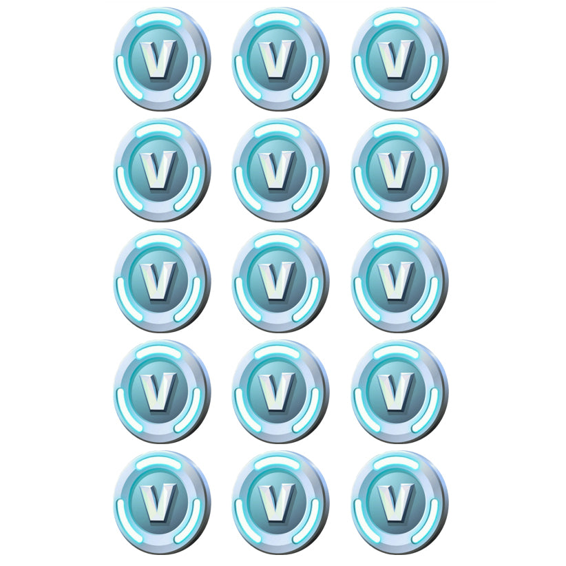 Fortnite V-Bucks Edible Cupcake Images