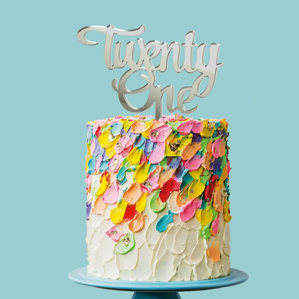 Twenty One Cake Topper | 21st Cake Topper | 21st Birthday Cake