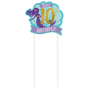 Amscan | Mermaid Wishes Customizable Cake Decorations | Mermaid