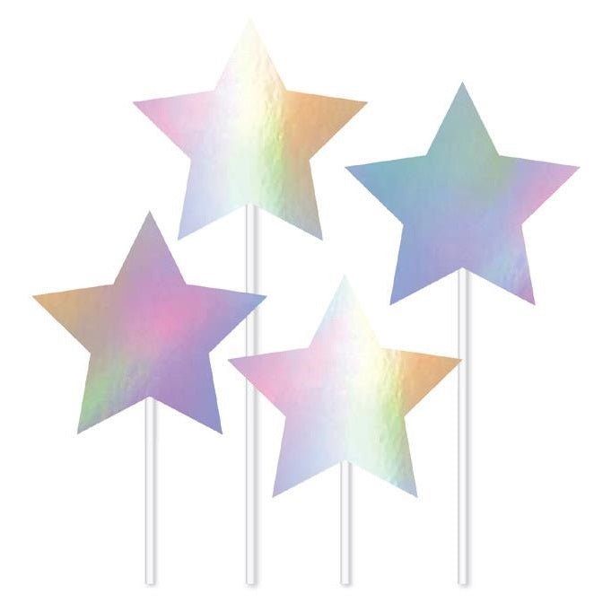 Artwrap | Iridescent Star Cake Toppers | Unicorn Party