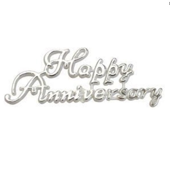 Starline | Silver Happy Anniversary Cake Topper