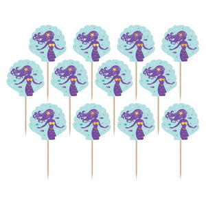 Amscan | Mermaid Wishes Cupcake Toppers | Mermaid Party Theme & Supplies
