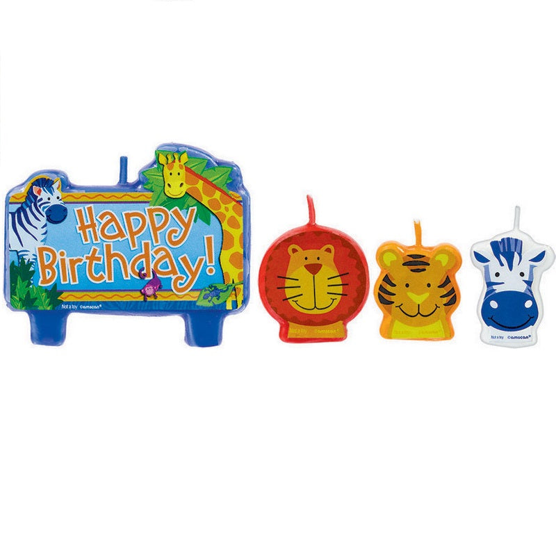 Amscan | Jungle Animals Birthday Candle Set | Jungle Animal Party Theme