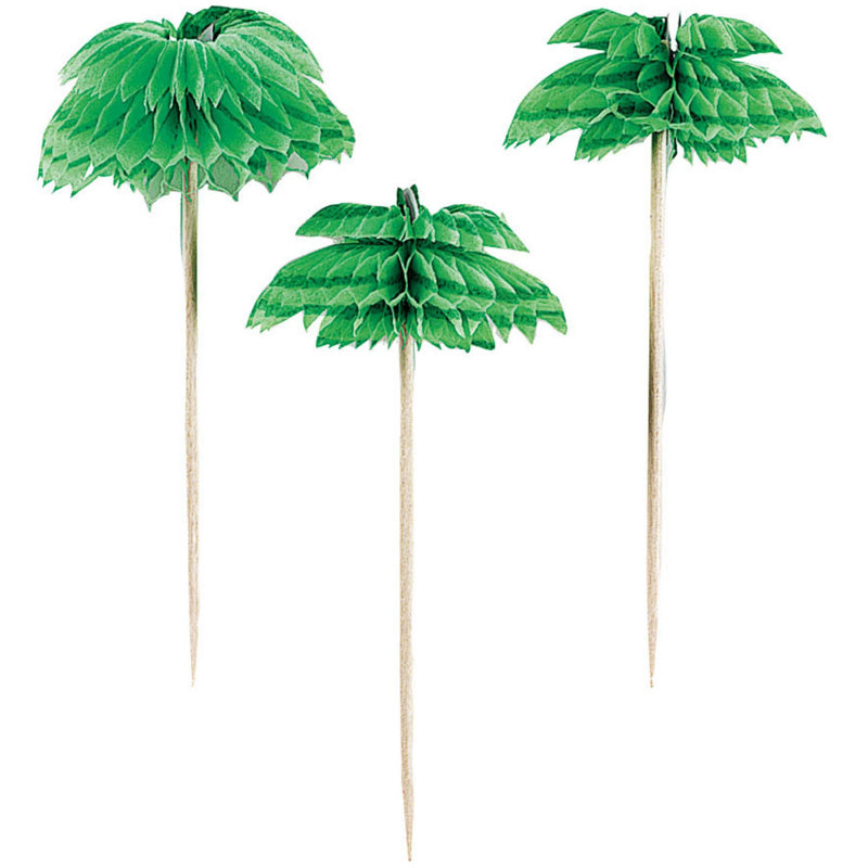 Honeycomb Palm Tree Cupcake Toppers