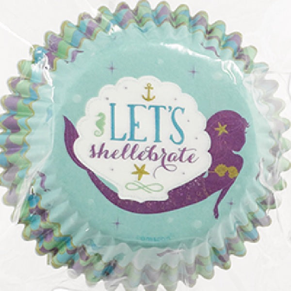 Amscan | Mermaid Wishes Cupcake Papers | Mermaid Party Theme & Supplies