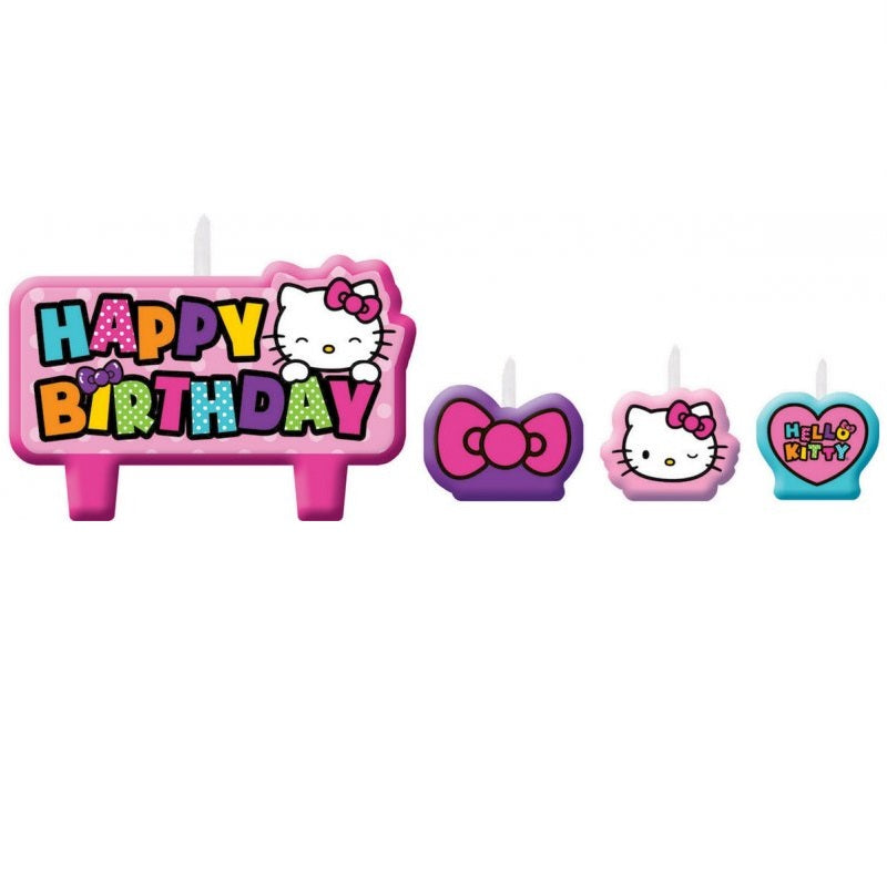 Amscan | Hello Kitty Rainbow Birthday Candle Set | Hello Kitty Party Theme & Supplies