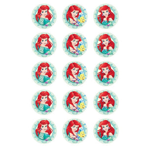 The Little Mermaid Edible Cupcake Images