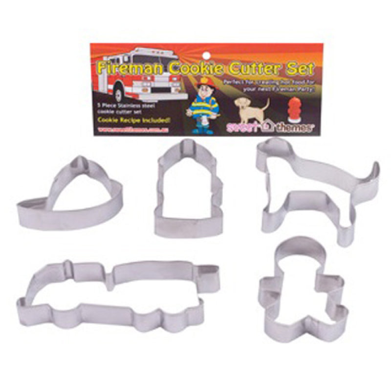 Amscan | Fire Fighter Cookie Cutter Set | Fire Fighter Party Theme & Supplies