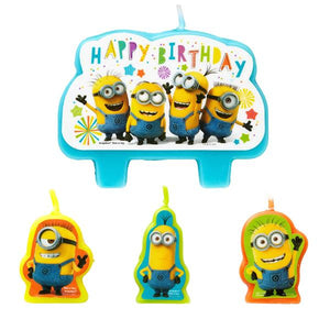 Despicable Me Minion Birthday Candle Set