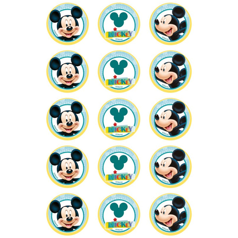 Mickey Mouse Edible Cupcake Images