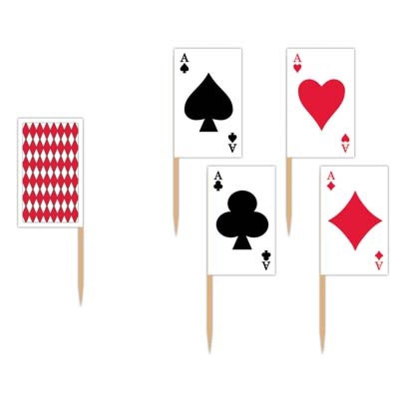 Casino Playing Card Cupcake Toppers