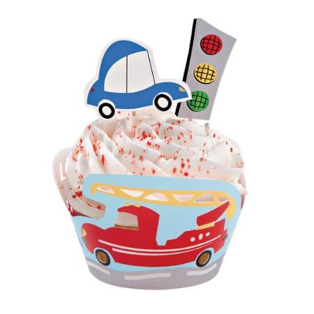 Wilton Cupcake Wraps'n Pix - Wheels | Cars Party Theme & Supplies