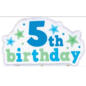 5th Birthday Stars Candle