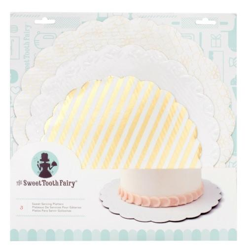 Sweet Tooth Fairy Serving Platters - Gold