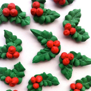 Christmas Holly Edible Icing Decoration | Christmas Party Theme & Supplies | Starline