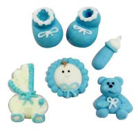 Baby Boy Icing Decoration Set | Baby Shower Party Theme & Supplies