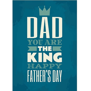 Happy Fathers Day King Edible Cake Image - A4 Size