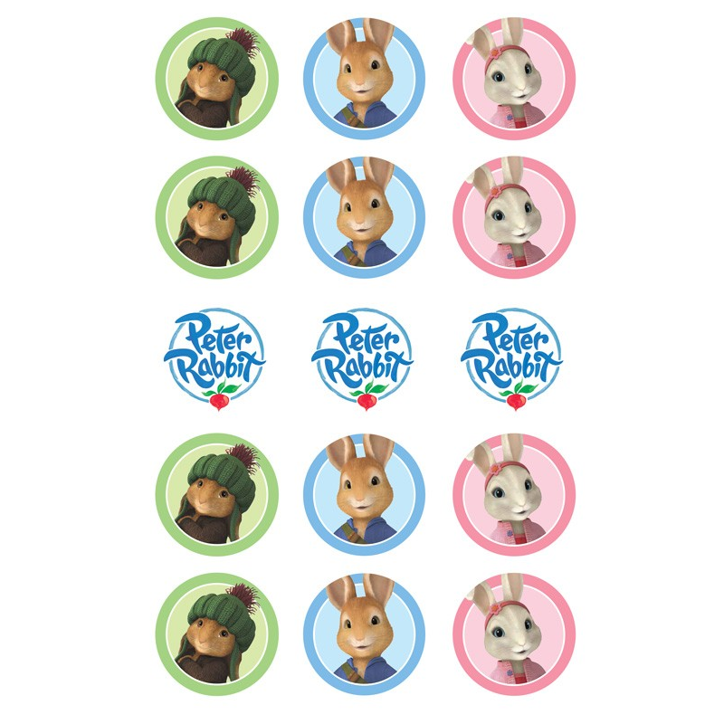 Peter Rabbit Edible Cupcake Images