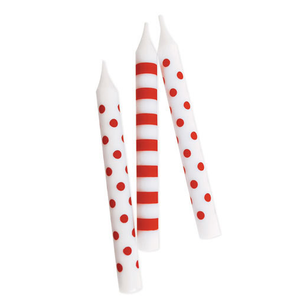 Paper Eskimo Candy Cane Red Candles