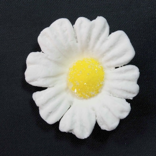 Icing Daisy 40mm Edible Decoration - White