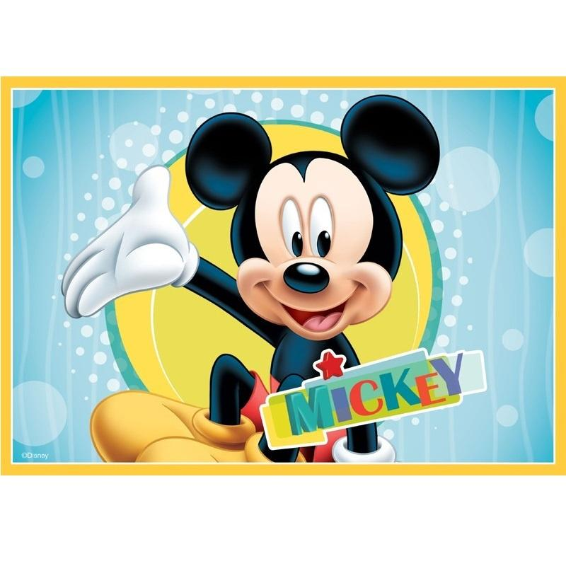 Mickey Mouse Edible Cake Image - A4 Size