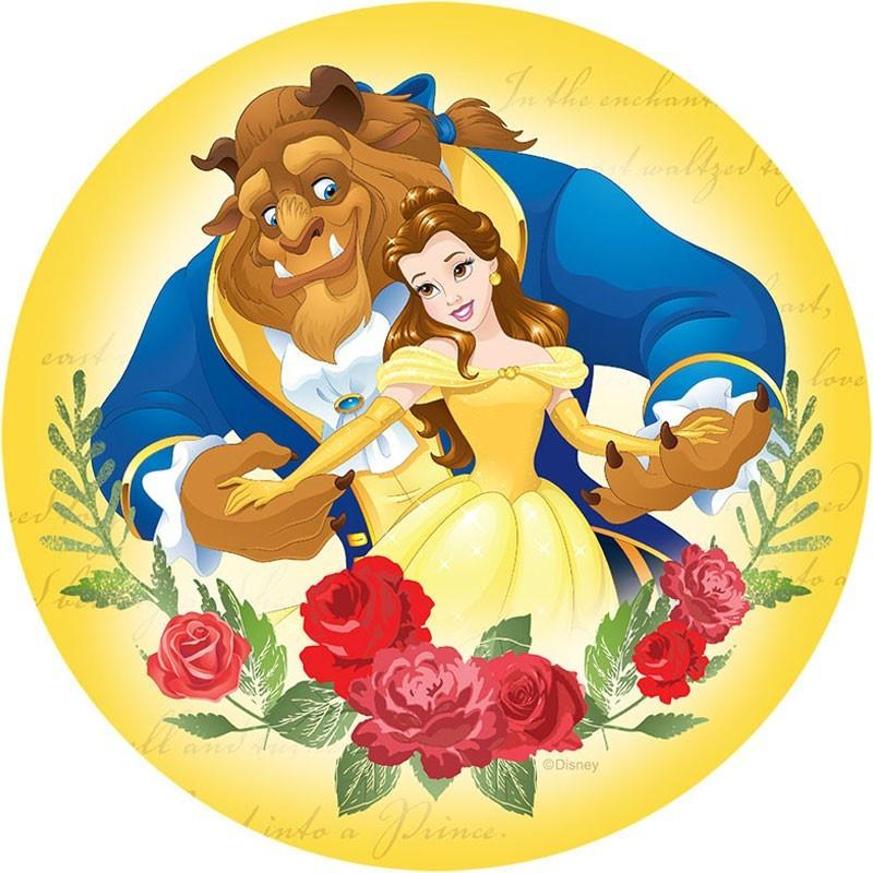 Beauty and the Beast Edible Cake Image