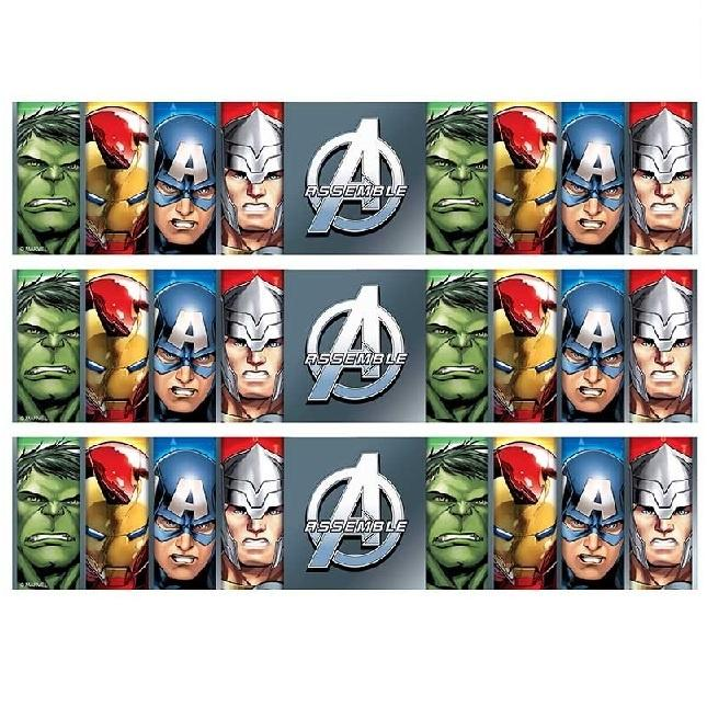 Avengers Cake Strip Edible Images