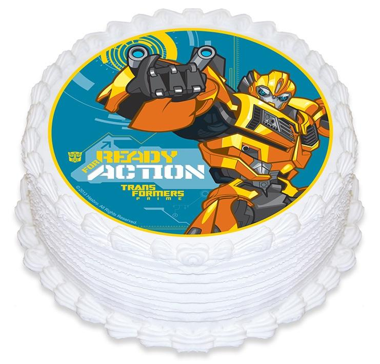 Transformers Edible Cake Image