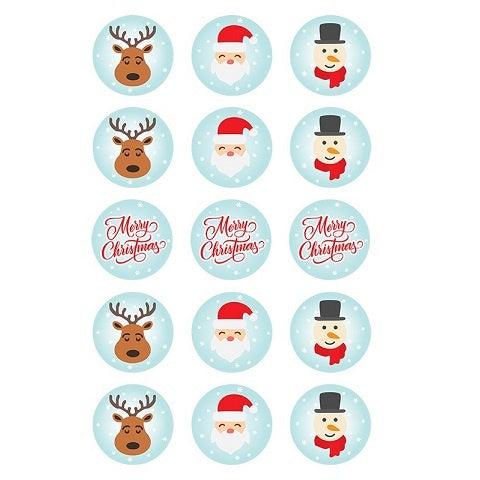 Christmas Character Edible Cupcake Images