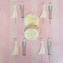 Bride and Groom Cupcake Kit