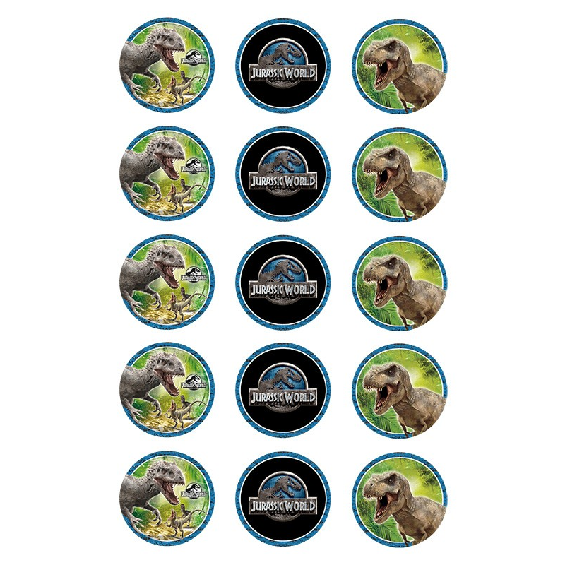 Jurassic World Edible Cupcake Images