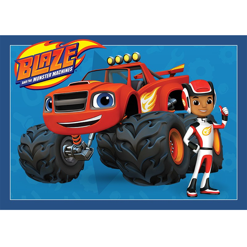 Blaze and the Monster Machines Edible Cake Image - A4 Size