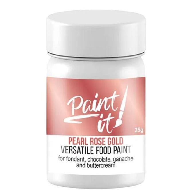 Pearl Rose Gold Food Paint - 25g | Paint It