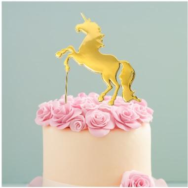 Gold Unicorn Cake Topper | Unicorn Cake Supplies
