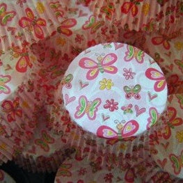 TSW Butterfly Cupcake Papers x60